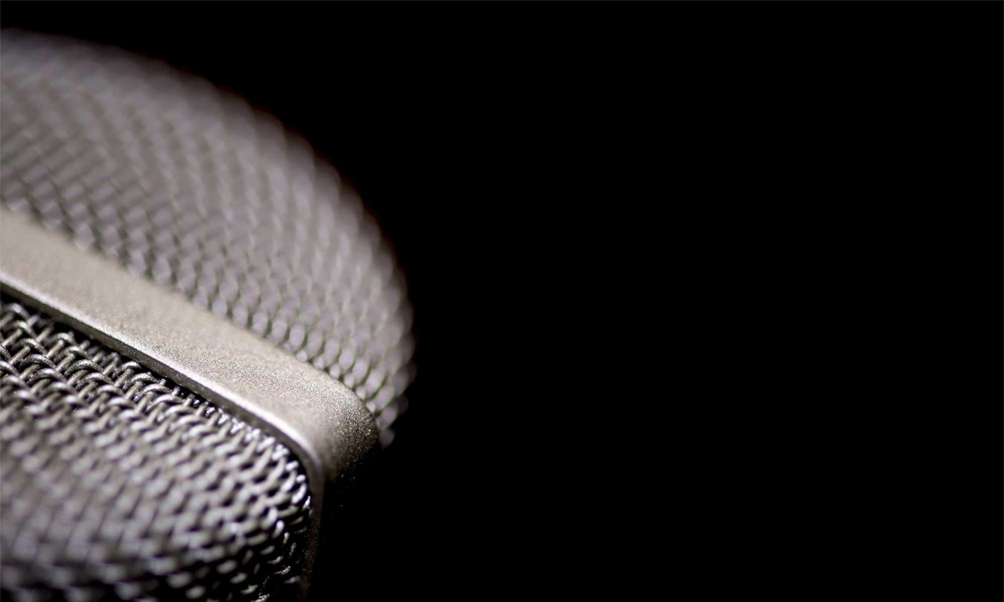 microphone against black background